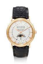 BLANCPAIN | VILLERET TRIPLE DATE, A YELLOW GOLD TRIPLE CALENDAR WRISTWATCH WITH MOON PHASES, CIRCA 1995