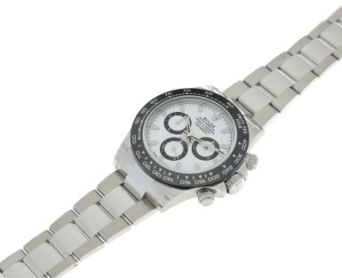 View 4. Thumbnail of Lot 16.  ROLEX | REFERENCE 116500 DAYTONA   A STAINLESS STEEL AUTOMATIC CHRONOGRAPH WRISTWATCH WITH BRACELET, CIRCA 2017 .
