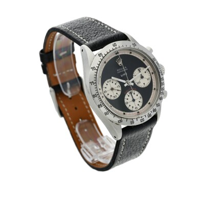 View 4. Thumbnail of Lot 280. Reference 6239 'Paul Newman' Daytona  Retailed by Linz Brothers: A stainless steel chronograph wristwatch, Circa 1968 .