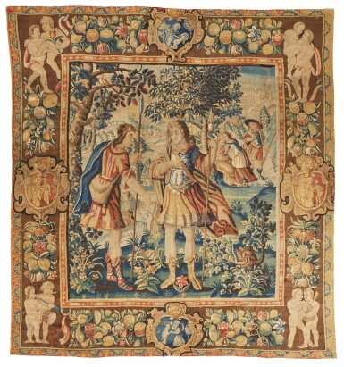 A Flemish Pastoral Tapestry, Bruges, mid 17th century