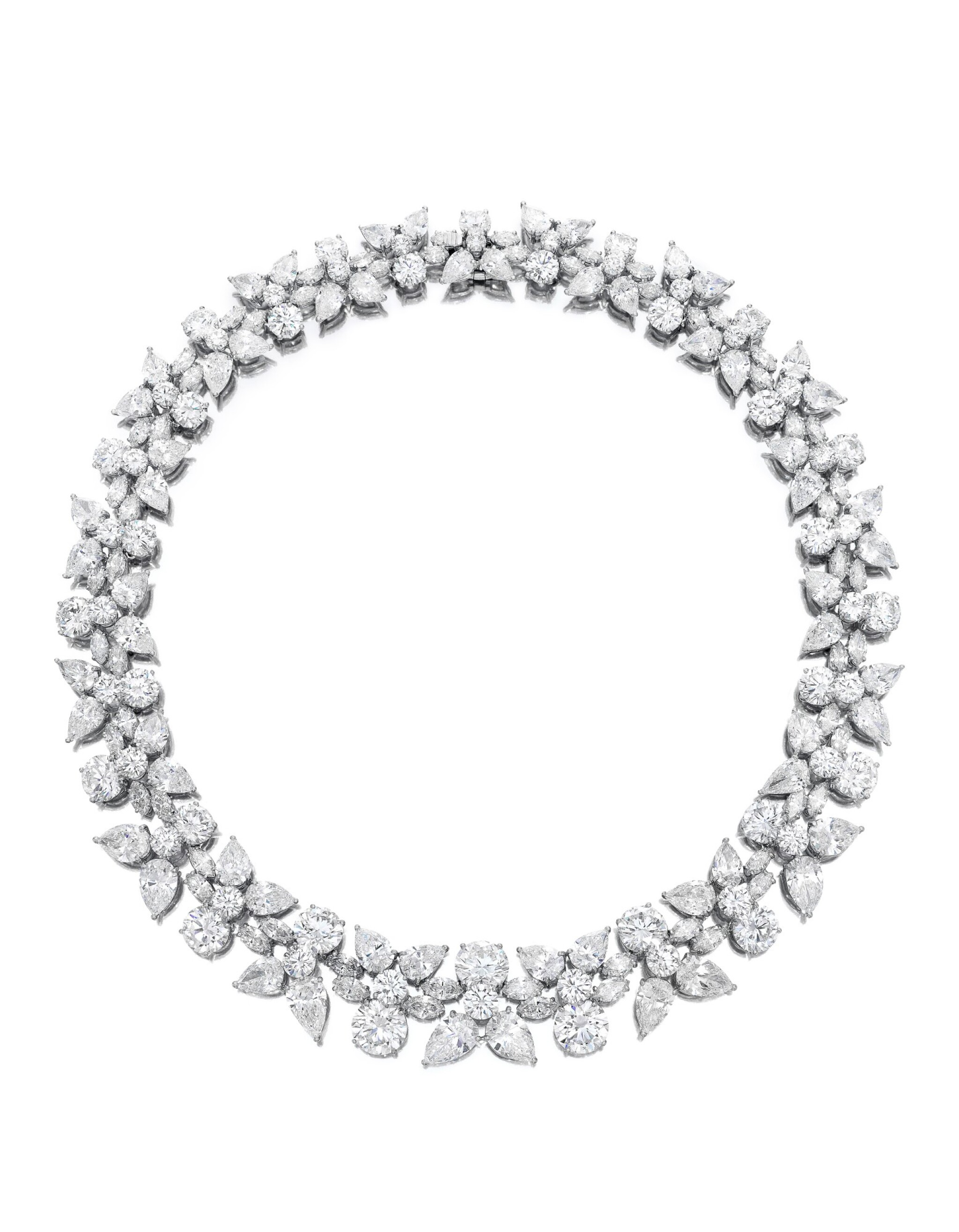 View full screen - View 1 of Lot 1754. HARRY WINSTON   'HOLLY WREATH' DIAMOND NECKLACE   海瑞溫斯頓   'Holly Wreath' 鑽石項鏈 (鑽石共重約125.00卡拉).