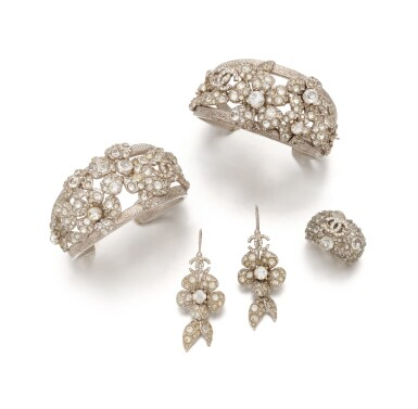 View 2. Thumbnail of Lot 136. Collection of crystal 'Camellia' jewellery.