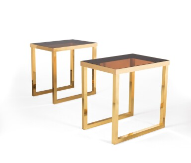 ATTRIBUTED TO MAISON JANSEN   TWO CONSOLE TABLES, CIRCA 1970 [ATTRIBUÉ À LA MAISON JANSEN   DEUX CONSOLES, VERS 1970]