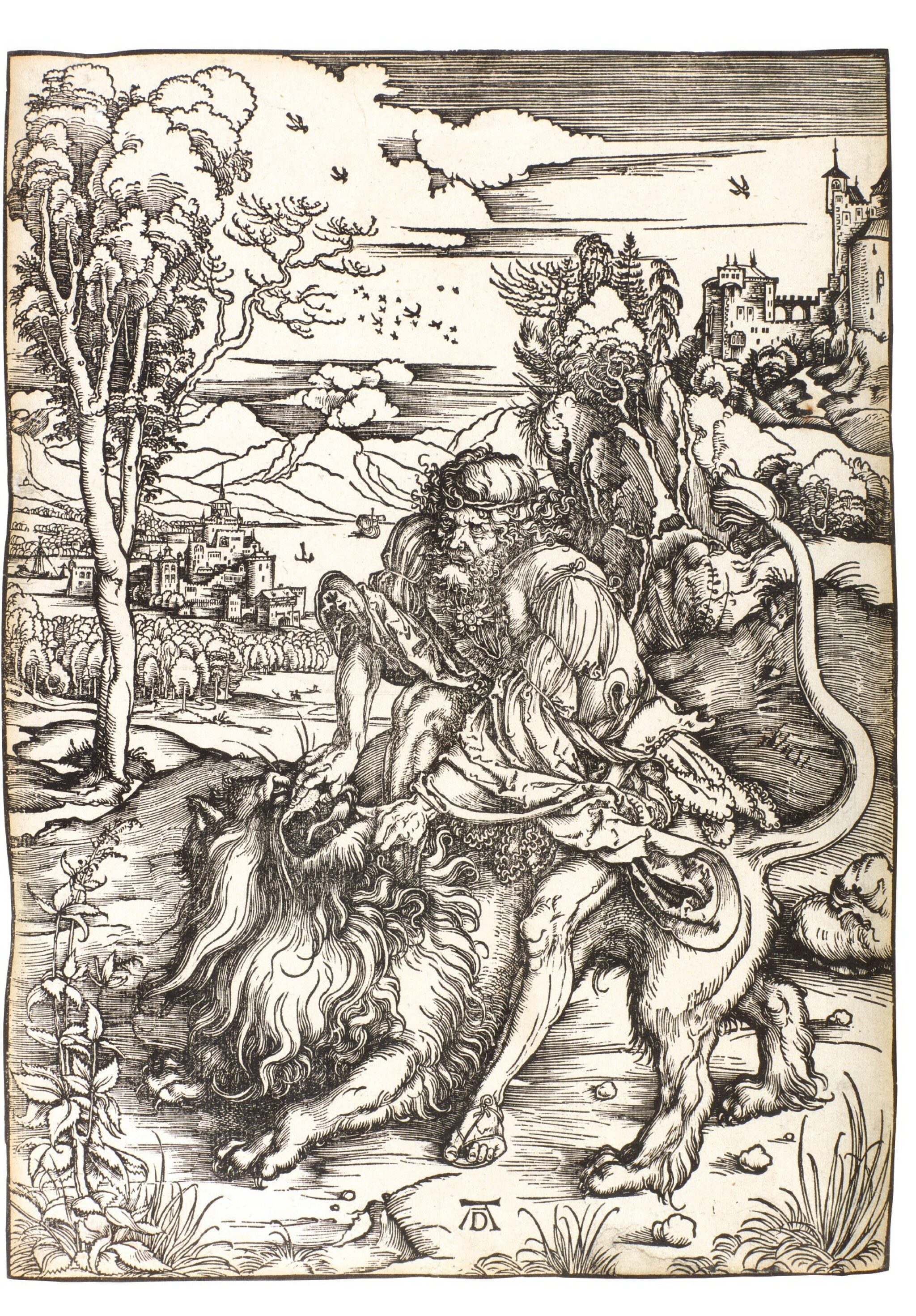 ALBRECHT DÜRER | SAMSON FIGHTING WITH THE LION (B. 2; M., HOLL. 107)