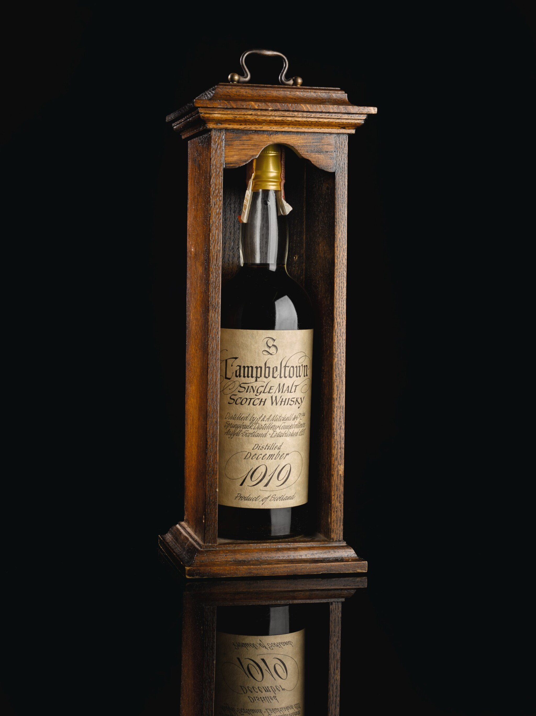 View full screen - View 1 of Lot 392. SPRINGBANK 50 YEAR OLD ORIGINAL BOTTLING 37.8 ABV 1919 .