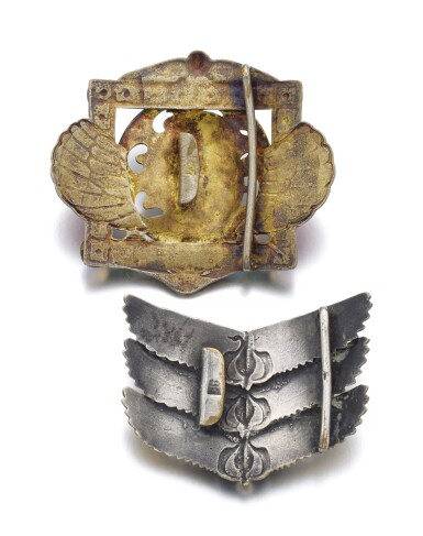 TWO BELT BUCKLES | PIEL FRÈRES,  CIRCA 1905