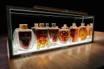 THE MACALLAN IN LALIQUE SIX PILLARS COLLECTION WITH FRENCH POLISHED WALNUT CABINET BY JAMES LAYCOCK
