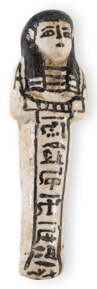 View 1. Thumbnail of Lot 177. AN EGYPTIAN GLAZED USHABTI, 19TH-20TH DYNASTY, CIRCA 1292-1075 B.C..
