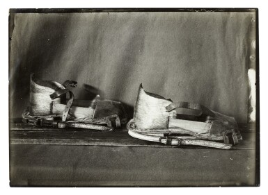 View 3. Thumbnail of Lot 189. Herbert Ponting   Three original photographs of ski shoes, published in 'Scott's Last Expedition', 1913.