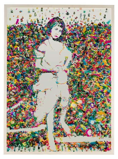 View 1. Thumbnail of Lot 31. VIK MUNIZ | PORTRAIT OF ALICE LIDDELL, AFTER LEWIS CARROLL (FROM REBUS).