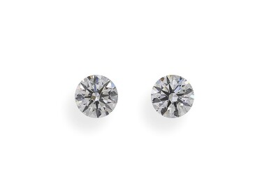 A Pair of 0.52 and 0.51 Carat Round Diamonds, F Color, SI1 and SI2 Clarity