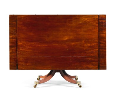 View 4. Thumbnail of Lot 72. AN IMPORTANT IRISH REGENCY ROSEWOOD BANDED MAHOGANY SEVEN PEDESTAL DINING TABLE, CIRCA 1815, ATTRIBUTED TO MACK, WILLIAMS AND GIBTON.
