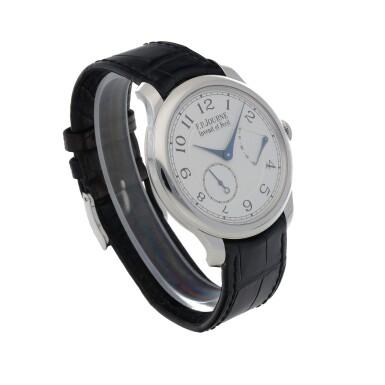 View 3. Thumbnail of Lot 43. Chronomètre Souverain Platinum wristwatch with power reserve indication Circa 2020   F.P. Journe「Chronomètre Souverain」鉑金腕錶備動力儲存顯示,年份約2020.
