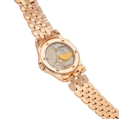 View 3. Thumbnail of Lot 8007. Patek Philippe | Reference 5130, A pink gold world time wristwatch with bracelet, Circa 2016 | 百達翡麗 |  型號5130   粉紅金世界時間鏈帶腕錶,約2016年製.