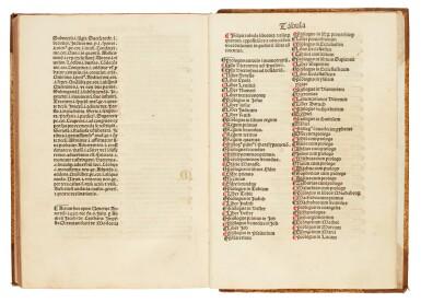 View 3. Thumbnail of Lot 176. Marchesinus, Mammotrectus, Venice, 1482, later half calf.