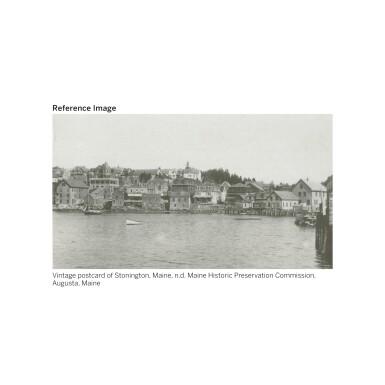 View 2. Thumbnail of Lot 21. JOHN MARIN | STONINGTON WHARF, NO. 1 (RED AND BLUE, MAINE).