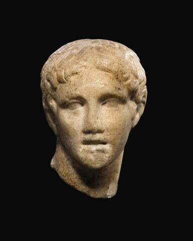 View 1. Thumbnail of Lot 28. A ROMAN MARBLE HEAD OF A MAN, CIRCA 1ST CENTURY A.D..