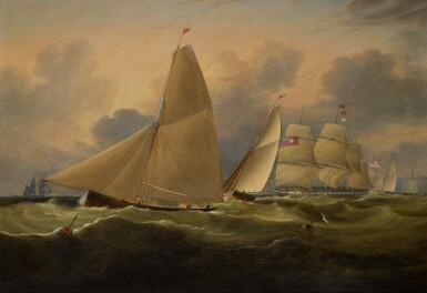 JOHN LYNN | Revenue Cuttersand a Frigate off the English coast