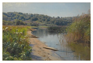 View 1. Thumbnail of Lot 12. PEDER MØNSTED     SUMMER REFLECTIONS ON A LAKE, SILKEBORG .