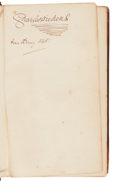 Dickens, Martin Chuzzlewit, 1844, first book edition, signed by the author for Hall