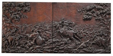 View 5. Thumbnail of Lot 10. ANTOINE-MARIE MELOTTE, SOUTHERN NETHERLANDISH, LIÈGE, 1753 | PAIR OF EQUESTRIAN BATTLE SCENES.