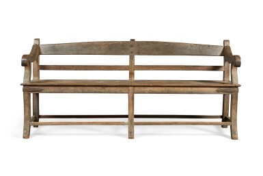 View 2. Thumbnail of Lot 138.  A LARGE TEAK 'BOMBAY' BENCH, INDIA, 19TH CENTURY.
