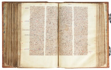 View 4. Thumbnail of Lot 6. The Bible of William Ketyll, with prologues, in Latin [England, 13th century (second quarter or middle)].