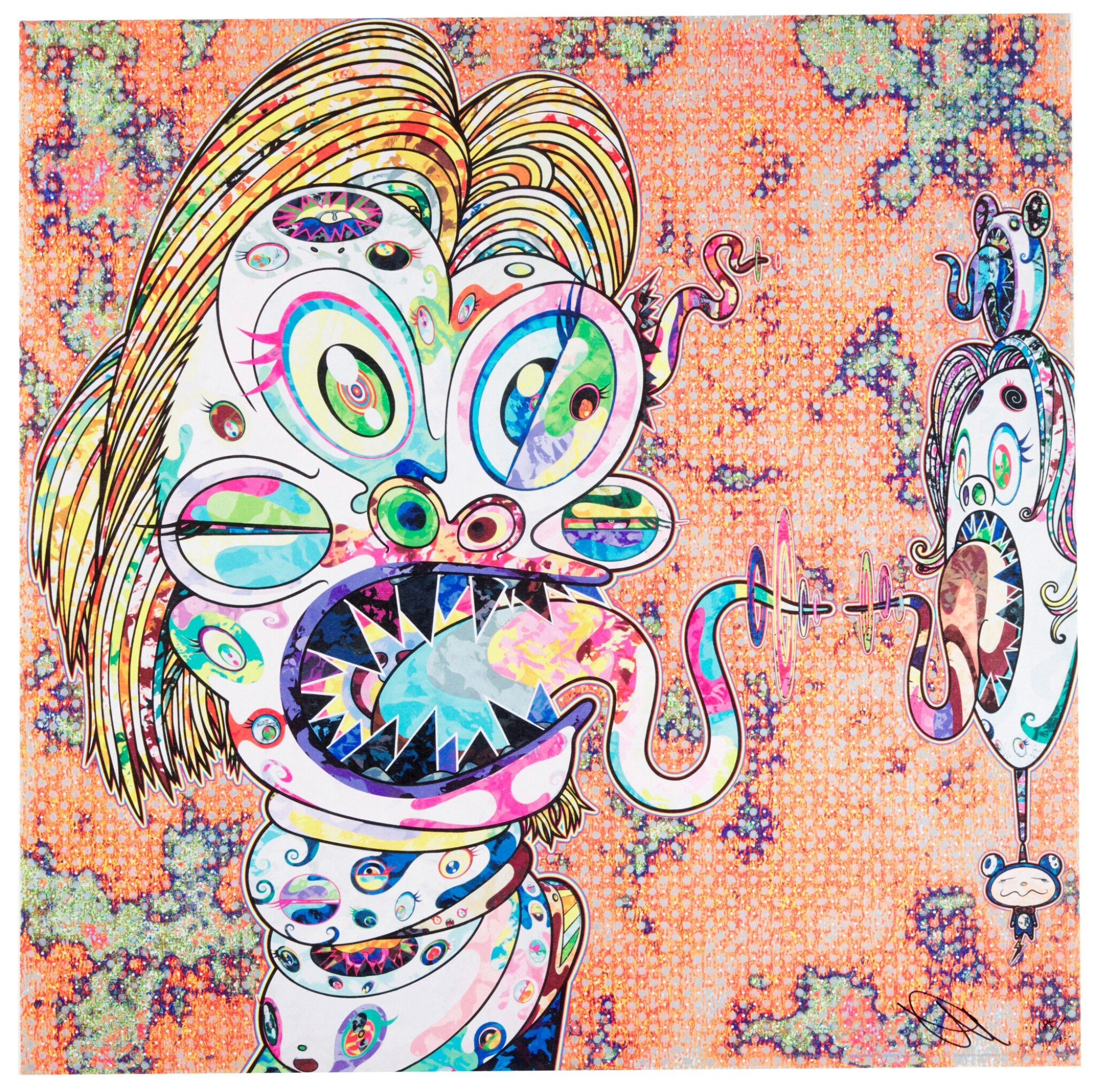 View full screen - View 1 of Lot 14.  TAKASHI MURAKAMI | HOMAGE TO FRANCIS BACON (STUDY FOR HEAD OF ISABEL RAWSTHORNE; AND GEORGE DYER).