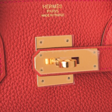 Hermès Geranium Birkin 30cm of Togo Leather with Gold Hardware