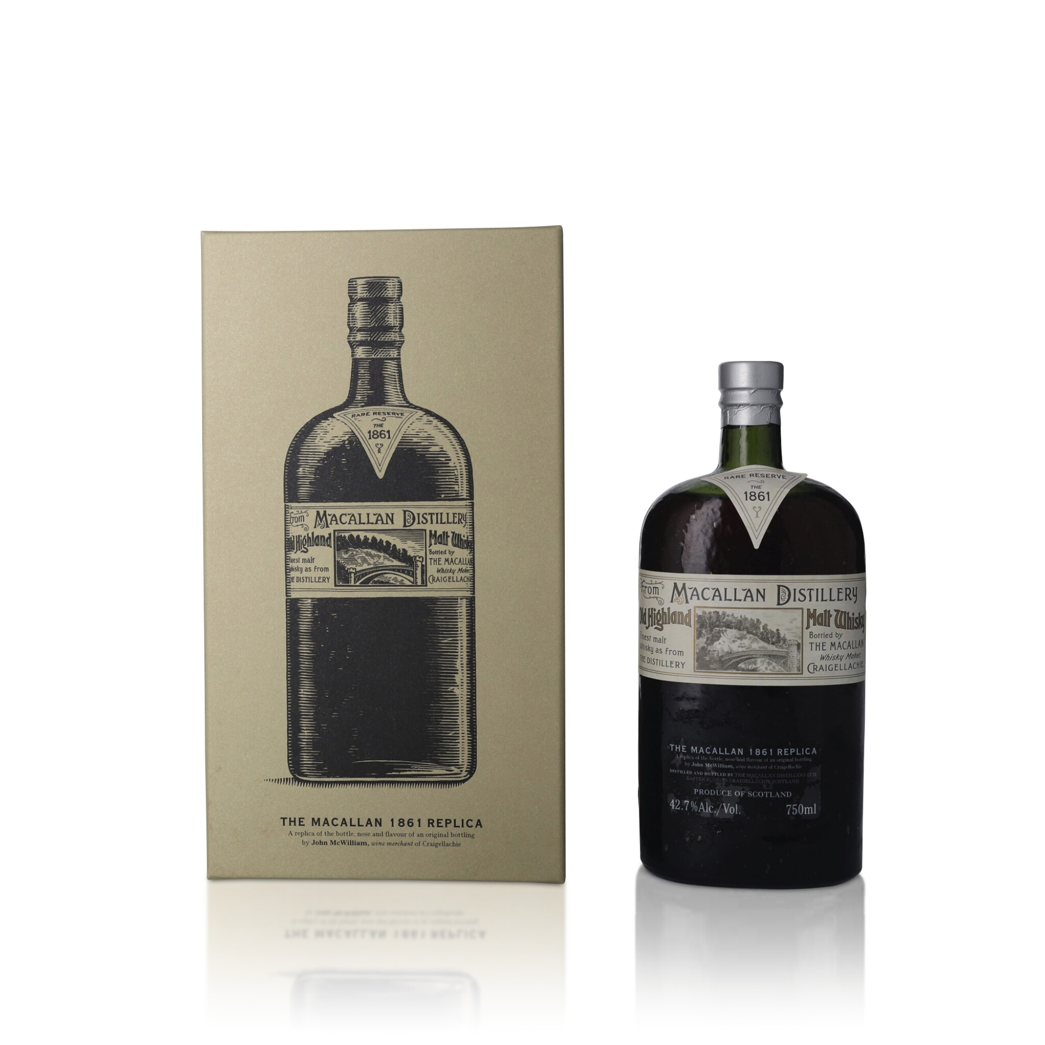 View full screen - View 1 of Lot 32. The Macallan 1861 Replica 42.7 abv NV (1 BT75).