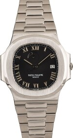 PATEK PHILIPPE | Nautilus, Ref. 3710/1A, A Stainless Steel Wristwatch with Integrated Bracelet and Power Reserve Indicator, Circa early 2000s