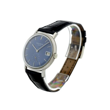 View 2. Thumbnail of Lot 23. REFERENCE 3445 A WHITE GOLD AUTOMATIC WRISTWATCH WITH DATE, MADE IN 1963.