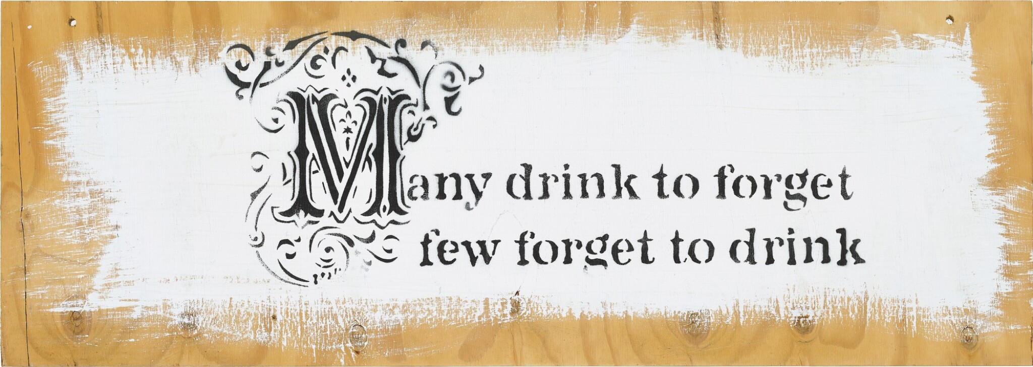 View full screen - View 1 of Lot 41. Banksy 班克斯   Many drink to forget… 許多人喝酒是爲了忘記....