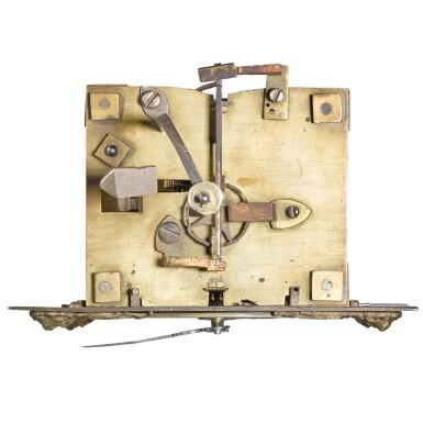 View 4. Thumbnail of Lot 60. Thomas Tompion: A small walnut 30-hour wall clock, London, circa 1700.