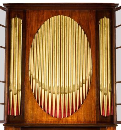 View 8. Thumbnail of Lot 167. A George III mahogany chamber organ by Hugh Russell, 1780.
