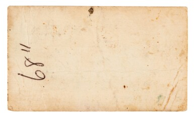 View 2. Thumbnail of Lot 37. BRIAN EPSTEIN   Business card, c.1964.