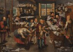FOLLOWER OF PIETER BRUEGHEL THE YOUNGER     The Village Lawyer's Office