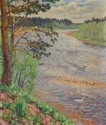 NIKOLAI PETROVICH BOGDANOV-BELSKY | River Bank