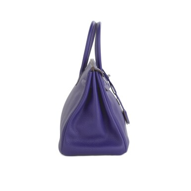 View 4. Thumbnail of Lot 717. HERMÈS | ULTRAVIOLET BIRKIN 35 IN TAURILLON CLEMENCE LEATHER WITH PALLADIUM HARDWARE, 2010.