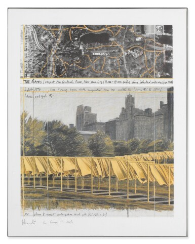 View 7. Thumbnail of Lot 34. The Gates, Project for Central Park, New York City: 5 Prints.