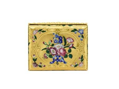 View 3. Thumbnail of Lot 13. A gold and enamel snuff box, James Bellis, London, circa 1765.