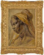 FOLLOWER OF SIR PETER PAUL RUBENS | Study of a black woman wearing acap