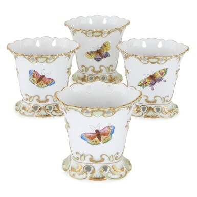 """View 5. Thumbnail of Lot 2. AN EXTENSIVE HEREND PORCELAIN """"VICTORIA"""" PATTERN COMPOSITE PART DINNER AND DESSERT SERVICE, 20TH CENTURY."""