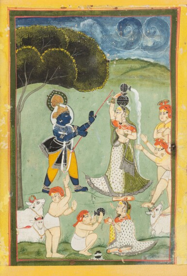View 3. Thumbnail of Lot 69. RAJASTHAN, LATE 18TH CENTURY AND 19TH CENTURY | SEVEN INDIAN MINIATURES.