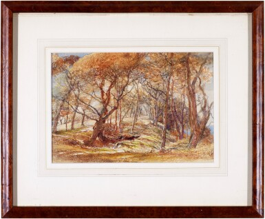 View 2. Thumbnail of Lot 213. A woodland study - possibly Clovelly Park, Devon.