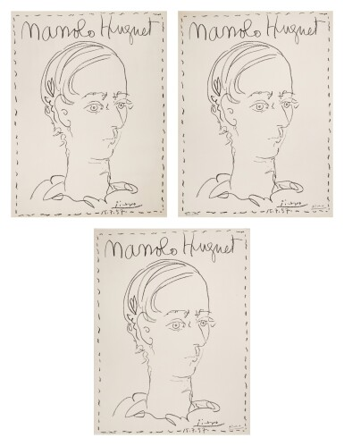 PABLO PICASSO | THREE WORKS: AFFICHE POUR LE MUSÉE DE CÉRET (B. 1278; M. 301; CZW. 26)