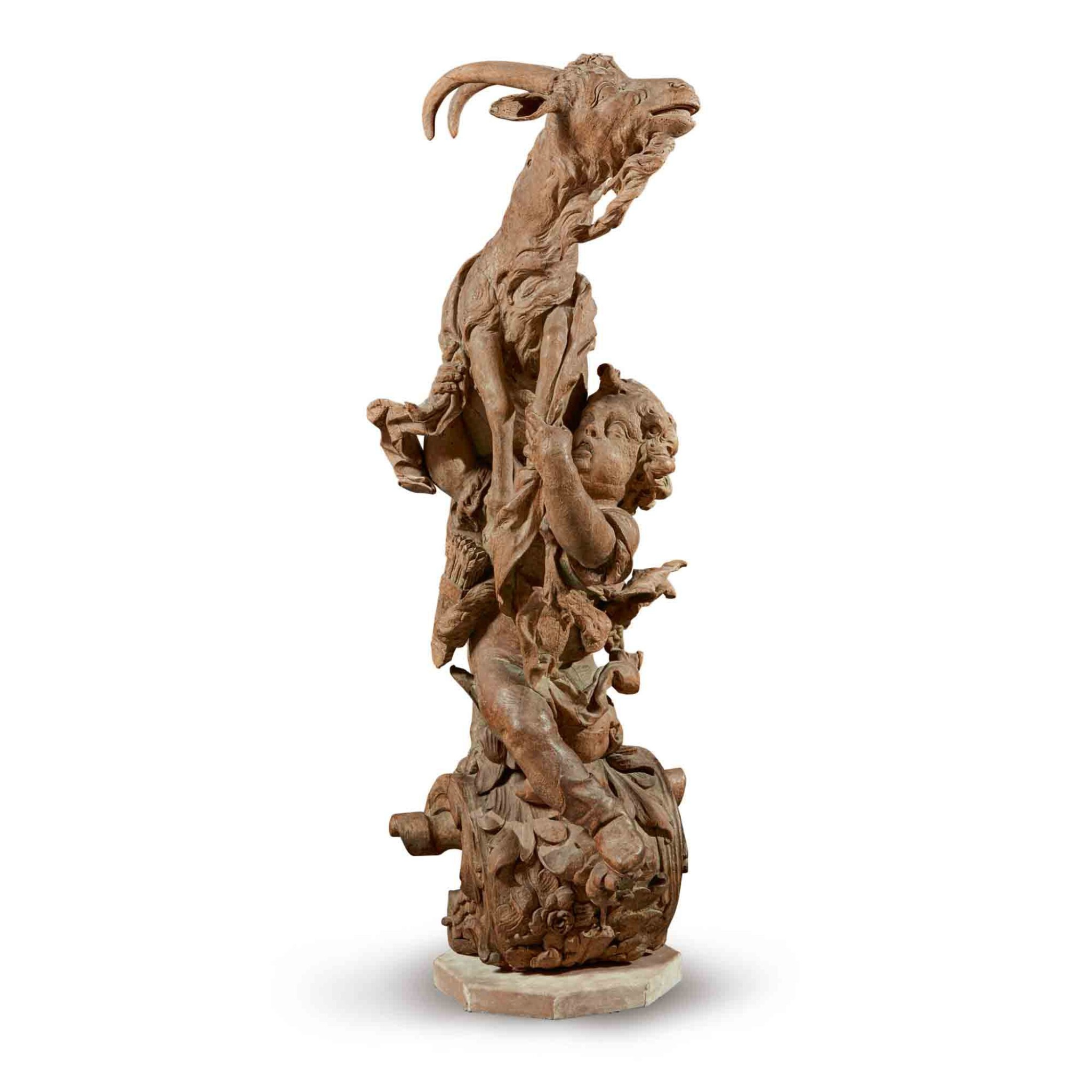 View full screen - View 1 of Lot 148. A Putto catching a Goat .