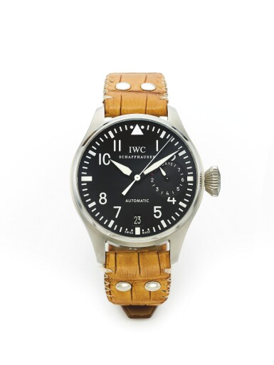 IWC | BIG PILOT, A STAINLESS STEEL AUTOMATIC CENTER SECONDS WRISTWATCH WITH DATE AND SEVEN DAY POWER RESERVE INDICATION CIRCA 2010