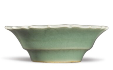 View 2. Thumbnail of Lot 511. A SMALL INCISED CELADON-GLAZED 'FLORAL' DISH,  XUANDE MARK AND PERIOD.