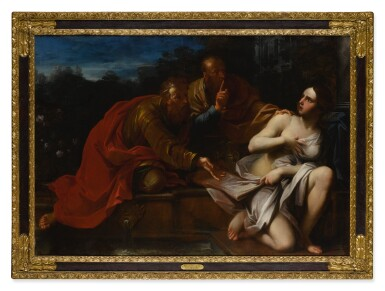 View 4. Thumbnail of Lot 643. Susanna and the Elders; Lot and His Daughters.